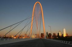 Santiago Calatrava Bridge Dallas  #SantiagoCalatravaArchitecture Pinned by www.modlar.com