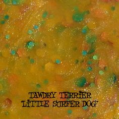 """@Tawdry Terrier """"Little Surfer Dog"""" #macro - exclusive bonus polish only available to customers who purchase the entire collection. The collection is available at http://www.etsy.com/shop/TawdryTerrier. #nailpolish #indienailpolish #tawdryterrier"""