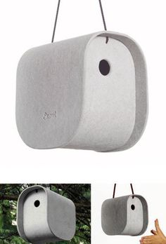 $138 I SERIOUSLY LOVE THIS!  Vladimir Jaccard: Birdy Modern Bird House | Available from NOVA68.com Modern Design
