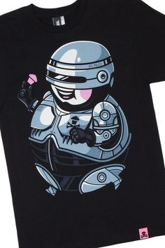 "Johnny Cupcakes x RoboCop ""Officer Big Kid"" T-Shirt Johnny Cupcakes, T Shirt Company, Pop Culture References, Kids Suits, Pop Culture Art, Branded T Shirts, Vinyl Figures, Shirts For Girls, Art Blog"