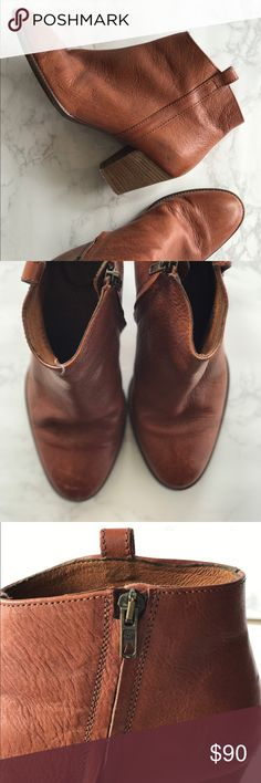 Madewell Billie Boot in Leather One of Madewell's best selling items, The Billie Boot in a English Saddle leather is the best bootie. Only worn a few times. In like new condition. Size 7 true to size. Make me an offer! Madewell Shoes Ankle Boots & Booties