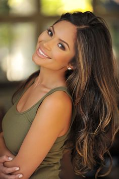 marianna hewitt hair light ombre dark colored cut celebrity hair trends 2014