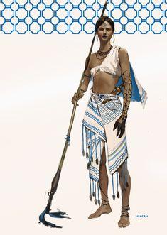 ArtStation - Character concepts, Krist Miha - Another! Female Character Design, Character Design References, Character Design Inspiration, Character Art, Tattoo Character, Dnd Characters, Fantasy Characters, Female Characters, High Fantasy
