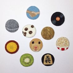 project - ipnot Ribbon Embroidery, Embroidery Ideas, Punch Needle Patterns, Punch Tool, Fiber Art, Needlework, Coasters, Patches, Cross Stitch