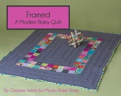 "Framed uses two ""For You"" mini charm packs to create a contemporary baby quilt measuring 36 by 42 inches. It is a satisfyingly quick quilt to piece with a thoroughly modern feel.  2 Moda Candy mini ch"