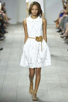 WHITE ROMANCE: Michael Kors RTW Spring 2015 [Photo by Giovanni Giannoni]