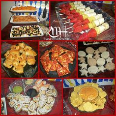 Party Food- I like the idea of finger foods and kid friendly choices.... :) I will change up a few things though!