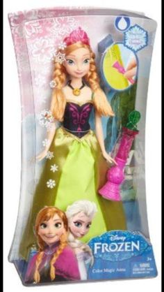 NEW Disney Frozen Color Change Anna Fashion Doll