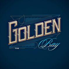 Golden Bay | Typography  www.tomaszbiernat.us