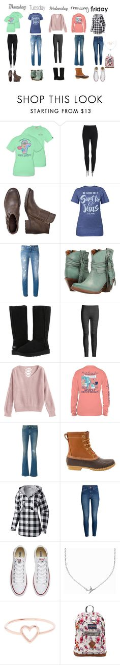 """Winter Outfits"" by haileywilliamson323 ❤ liked on Polyvore featuring Beyond Yoga, Dolce&Gabbana, Lucchese, UGG Australia, Azalea, Dondup, L.L.Bean, Columbia, H&M and Converse"