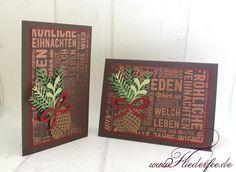 """www.fliederfee.de: Stampin' Up! Weihnachtskarten m. """"Weihnachtspotpourri"""" u. """"Tannen und Zapfen"""""""