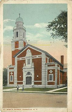 NY-DANSVILLE-ST. MARY'S CHURCH-MAILED 1919-R96445