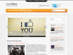 SmartPress is excellent solution for your personal blog. This WordPress theme supports and comes with custom widgets, drop-down menus, javascript slideshow and lots of other useful features. The theme is absolutely free!