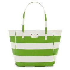 Kate Spade High Falls Sydney Tote Green/White
