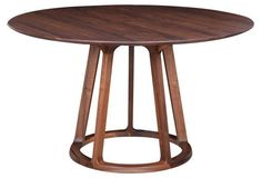 An elegant option for smaller dining rooms and kitchen eating areas, the Moes Home Collection Aldo Round Dining Table provides plenty of space for. Round Dining Table Modern, Walnut Dining Table, Pedestal Dining Table, Dining Table In Kitchen, Round Kitchen, Round Tables, Kitchen Chairs, Dining Furniture, Dining Chairs