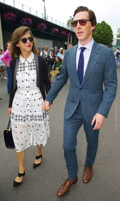 """acc0latus: """" Benedict Cumberbatch and wife Sophie Hunter made a dapper duo on the final day of the sporting event.[hq]  ▪ Credit: /Eddie Mulholland """""""