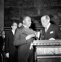 """(1964), Dr. Martin Luther King, """"Receiving the Nobel Peace Prize"""""""