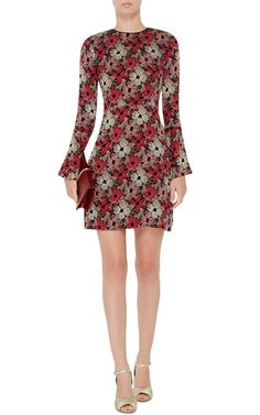 Emilie Silk Floral Printed Mini Dress by PIAMITA Now Available on Moda Operandi