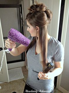 Absolutely Arkansas: DIY Salon Blowout at Home! {Look for Less Challenge!}
