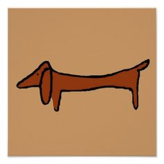 The Famous Dachshund Brown Abstract dog also sold in UK and Germany over web by local artist  #dachshund #UK