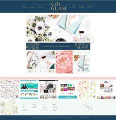 Hello Glam Wordpress Genesis by Hello You Designs on @creativemarket