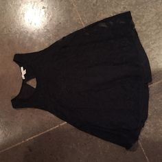 black lace tank top never worn excellent condition!!! miami Tops Tank Tops