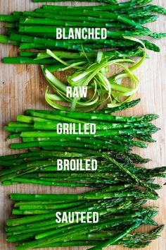 How to cook asparagus- showing you five ways to enjoy everyone's favorite spring vegetable! Plus how to store asparagus for meal prep, and recipe ideas to use it in. How to Cook Asparagus- 5 Simple Methods Asparagus On The Stove, How To Store Asparagus, Ways To Cook Asparagus, Saute Asparagus, Grilled Asparagus, Asparagus Recipe, Grilled Vegetables, Cooking Vegetables, Veggies