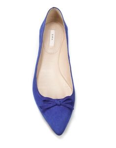 POINTED BALLERINAS WITH BOW - Shoes - Collection - Woman - ZARA United States - StyleSays