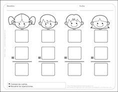 Fichas para preescolar: 2 de 3 plantillas para preescolar: Operaciones simples