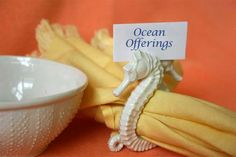 Seahorse Napkin Ring and Placecard holders