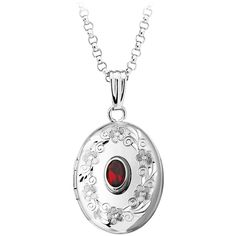 Oval Locket with Garnet Pendant in Sterling Silver (6.325 RUB) ❤ liked on Polyvore featuring jewelry, pendants, locket, red, sterling silver oval locket, sterling silver pendants, long pendant, sterling silver locket pendant and engraved jewelry
