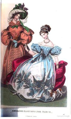 1832 Fashion The Royal Lady's magazine, and archives of the court of St. James's 1830s Fashion