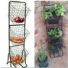 of the coolest Kmart hacks EVER! Use a Kmart veggie caddy as a vertical herb garden. Great hack for small spacesUse a Kmart veggie caddy as a vertical herb garden. Great hack for small spaces