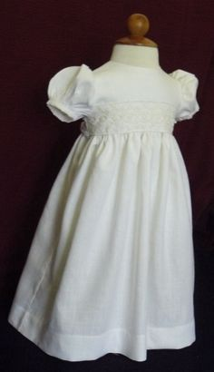 Linen baptism christening gown by AnnaBouche on Etsy, $72.00