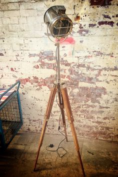 Theatrical/nautical spotlight/floor lamp 5.5ft full extension @ http://www.plattersinteriors.co.uk/shop/4589794855/nautical-theatre-spotlight-floor-lamp/10060419