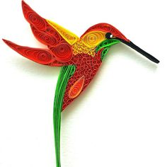 Quilled hummingbird - https://www.etsy.com/listing/232306183/unique-paper-quilled-Quilled hummingbird