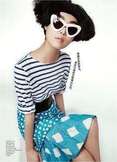 I need these shades in my life ASAP! -- Vogue China May 2012: Vogue China : LookBooks™ - THE Source for Fashion Professionals