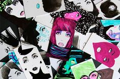 make-up artist business cards- inspire you to draw faces