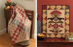 Roundabout Crisscross and Blackbirds and Berries quilts | Homestyle quilts | 9781604681635