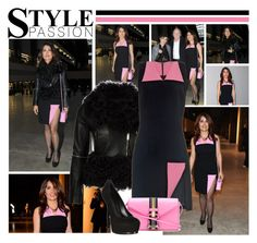 """""""2015 London Fashion Week: Christopher Kane F/W 2015 Presentation~ Salma Hayek"""" by snugget9530 ❤ liked on Polyvore featuring Christopher Kane and Yves Saint Laurent"""
