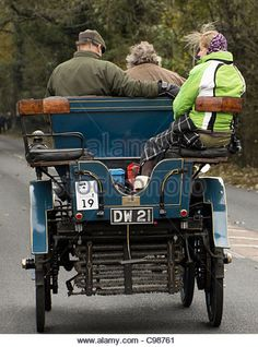 1898 Daimler Wagonette on the 2011 London to Brighton Veteran Car Run - Stock Image