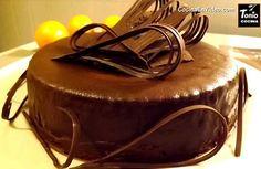 Tarta de naranja y chocolate Chocolate Desserts, Chocolate Fondue, Tarta Chocolate, Deli, Cake Recipes, Recipies, Pudding, Cooking, Food