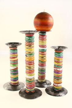 Incorporate this idea into a craft show display for an Upcycler.  Kids room, Craft room, workshop decor.