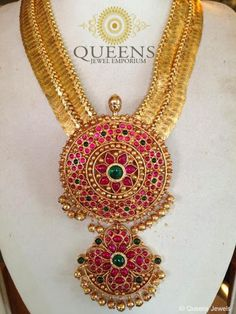 Antique kasu haram with rakodi padhakam from Queens jewel emporium