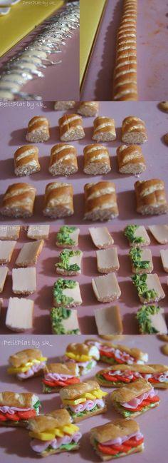 tutorial sanduíche miniatura em fimo ou biscuit