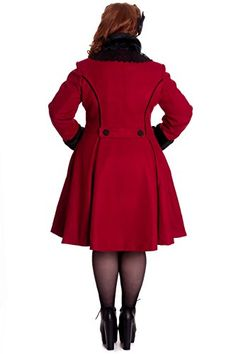 a52d2d4b45c Hell Bunny Plus Size Vintage Victorian Design Burgundy Angeline Winter Coat  http   www