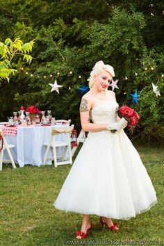 1950 S Vintage Pin Up Fourth 4th Of July Styled Wedding Bridal Shoot