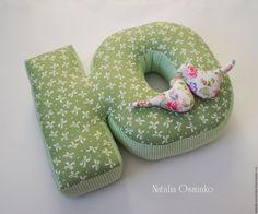 Купить Буквы-подушки, 25 см / мягкие буквы / буквы в подарок - зеленый