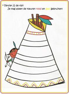 * Versier jij de tipi? American Indians, Native American, Indian Diy, Indian Quilt, Cowboys And Indians, History Class, Le Far West, Art Plastique, Drawing For Kids
