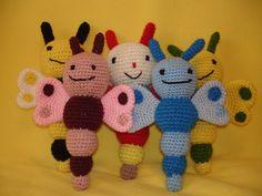 Pillangó baba csörgők 20-22 cm Crochet Necklace, Toys, Jewelry, Amigurumi, Activity Toys, Jewlery, Jewerly, Clearance Toys, Schmuck